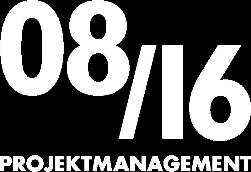 Logo: 08/16 PROJEKTMANAGEMENT GmbH